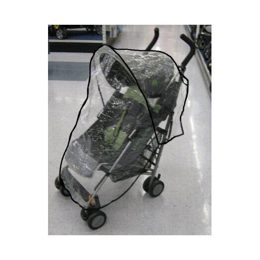 Sasha's Kiddie Products Small Lightweight Twin Handle Single Stroller Rain and Wind Cover