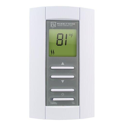 WarmlyYours EasyStat Thermostat and GFCI 5mA Non-Prog and AF Sensor 240V