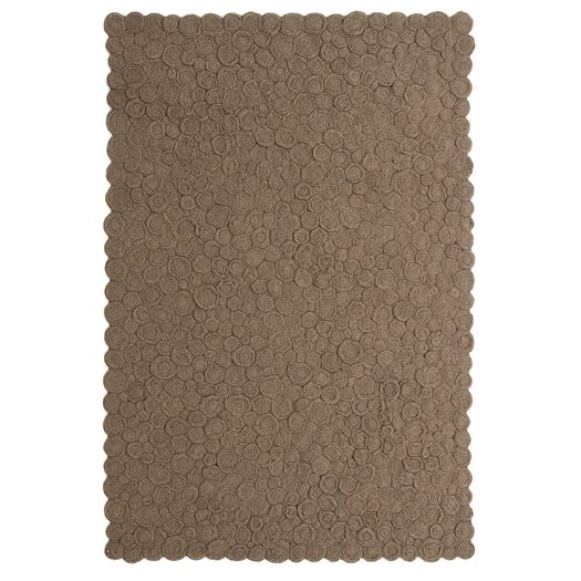 Spiral Brown Area Rug