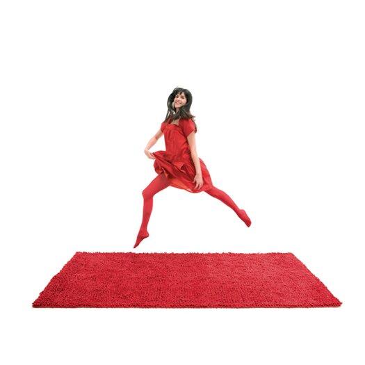 Velvet Red Area Rug