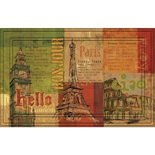 BuyMATS Inc. Naturelles Hello, Bon Jour, Ciao Doormat