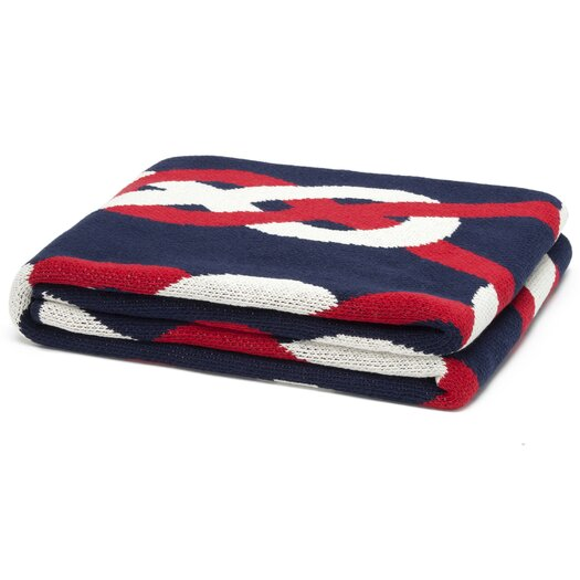 In2Green Eco Designer Sailor Knots Throw Blanket