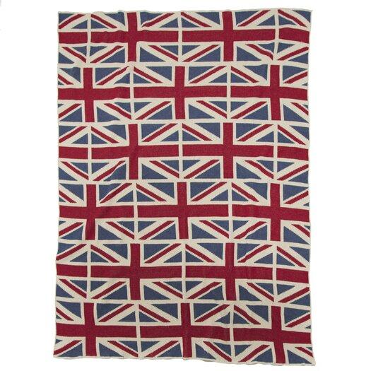 In2Green Eco Designer Vintage Union Jack Throw Blanket