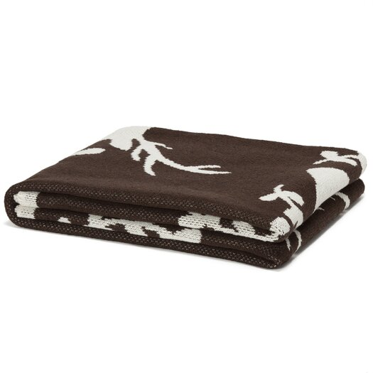 In2Green Eco Designer Stag with Vine Throw Blanket