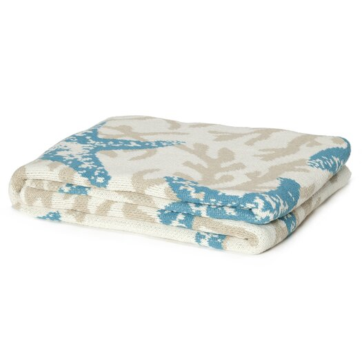 In2Green Eco Designer Starfish Coral Throw Blanket