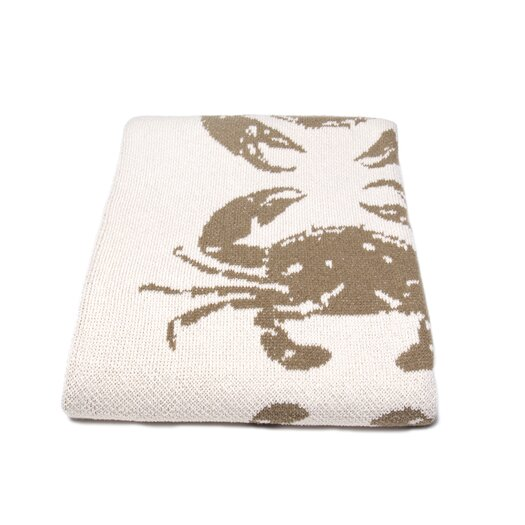 In2Green Eco Crab Cotton Throw Blanket