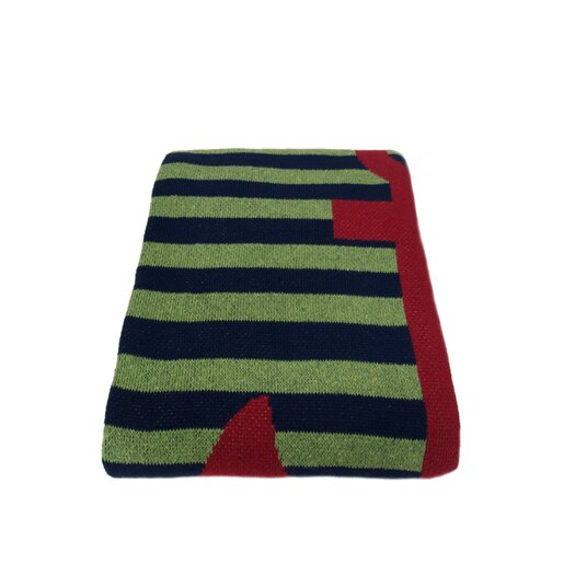 In2Green Eco French Stripe Cotton Yarn Throw