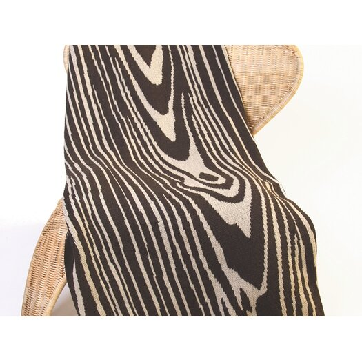 In2Green Eco Woodgrain Cotton Throw Blanket