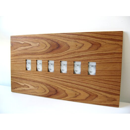 Six Slot Wood Picture Frame