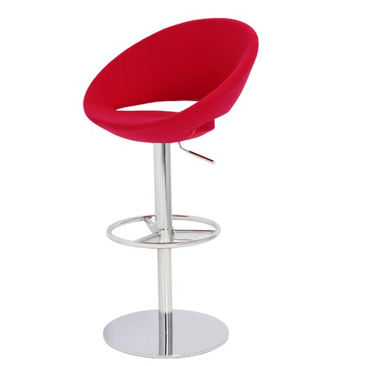 Crescent Adjustable Height Bar Stool with Gas Lift