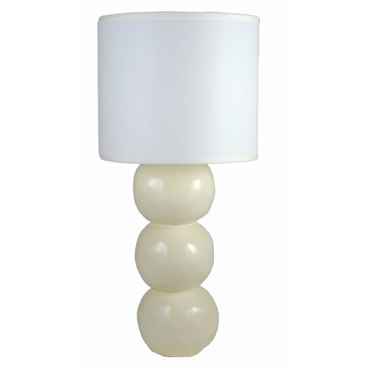 "Alex Marshall Studios Sphere 23.5"" H Table Lamp with Drum Shade"