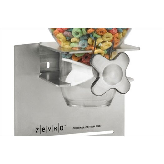 Zevro DESIGNER EDITION Single 17.5 oz Dry Food Dispenser (18/10 Stainless Steel)