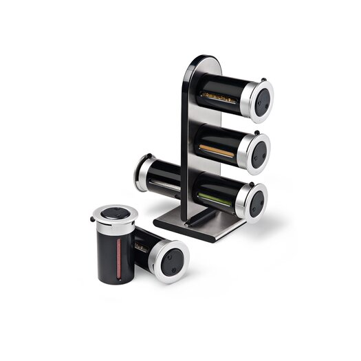 Zevro Zero Gravity Countertop Magnetic Spice Stand - 6 canister