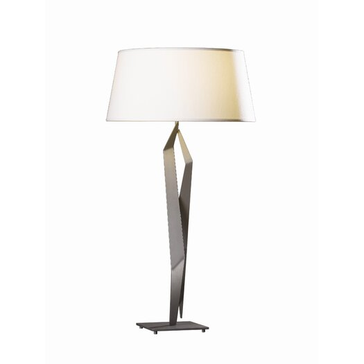 "Hubbardton Forge Facet 33.7"" H Table Lamp with Empire Shade"