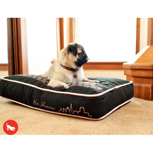 "P.L.A.Y. Cosmopolitan ""SF""yline Rectangular Dog Pillow"