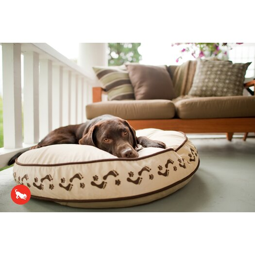 P.L.A.Y. Utopian Footprints Round Dog Pillow