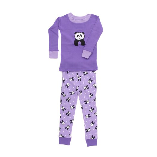 New Jammies Applique Organic Cotton PJ Pandas