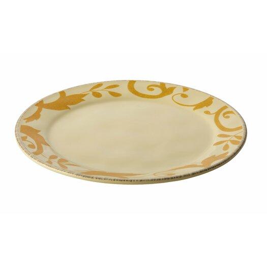 Rachael Ray Gold Scroll Round Platter
