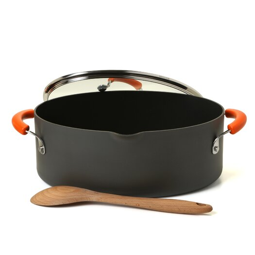 Rachael Ray Hard Anodized II 8 Qt. Stock Pot with Lid
