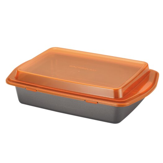 Rachael Ray Yum-O Nonstick Covered Cake Pan with Lid