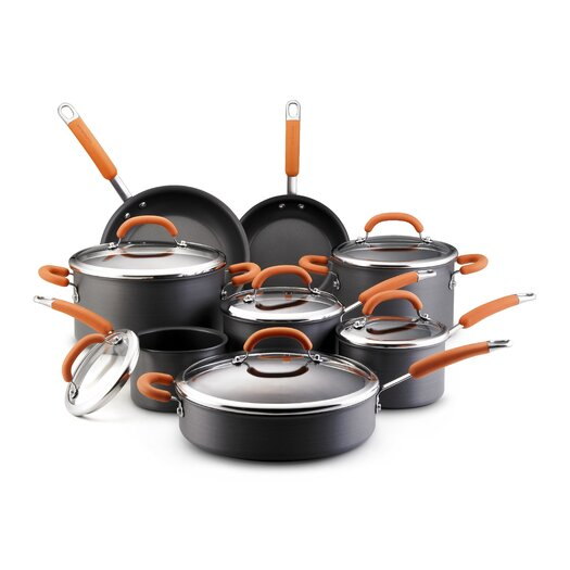 Rachael Ray Hard Anodized Nonstick 14-Piece Cookware Set