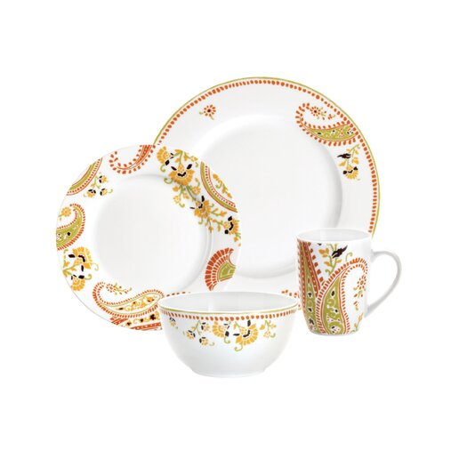 Rachael Ray Paisley 4 Piece Place Setting Set