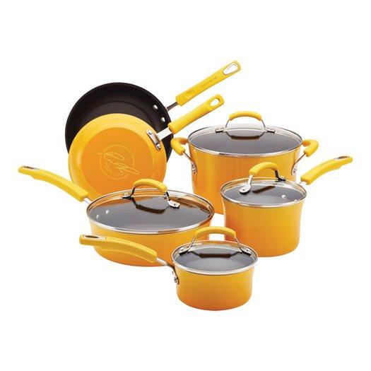 Rachael Ray Nonstick 10-Piece Cookware Set