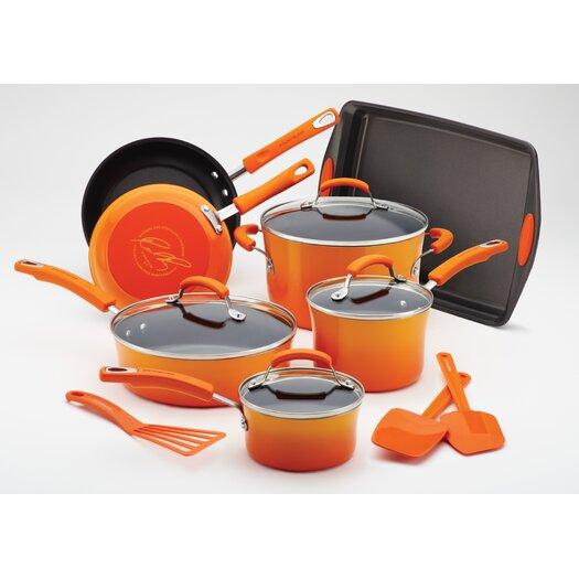 Rachael Ray Porcelain II Nonstick 14 Piece Cookware Set