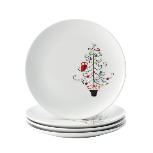 "Rachael Ray Hoot's Decorated Tree 9.4"" Salad Plate"
