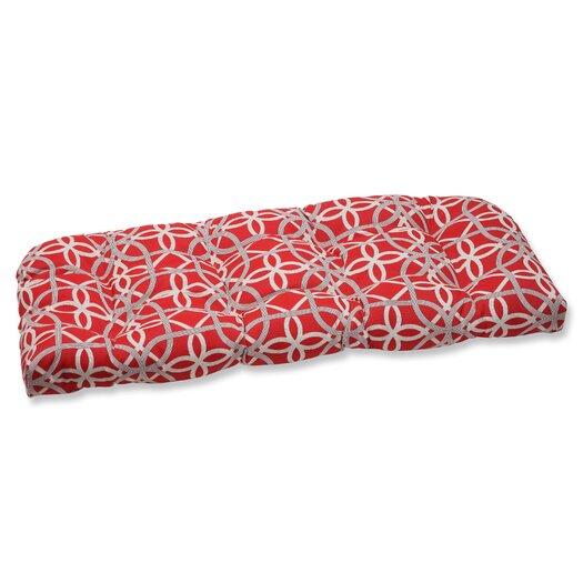 Pillow Perfect Keene Wicker Loveseat Cushion