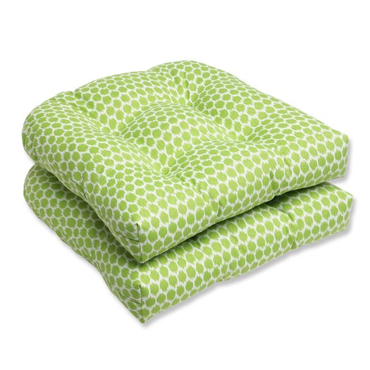 Pillow Perfect Seeing Spots Wicker Seat Cushion