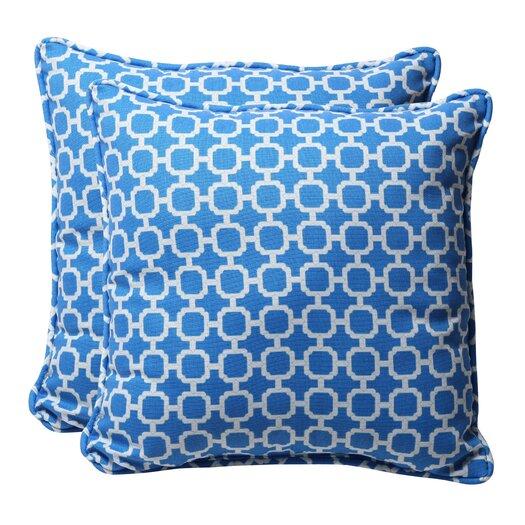 Pillow Perfect Decorative Square Toss Pillow (Set of 2)