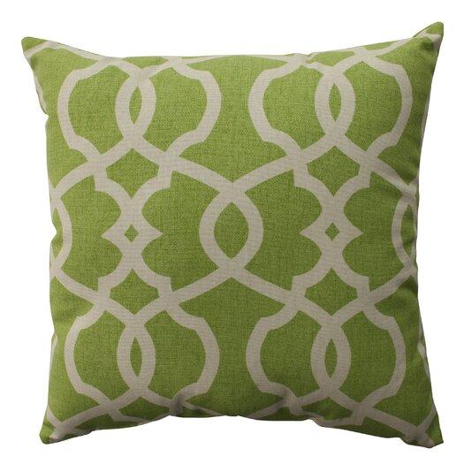 Pillow Perfect Lattice Damask Throw Pillow