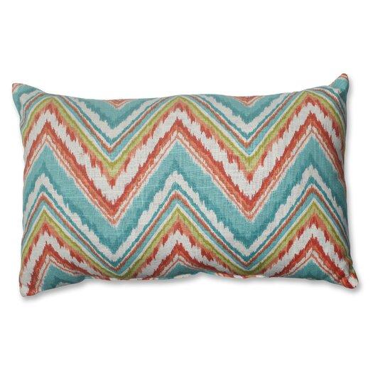 Pillow Perfect Chevron Cherade Polyester Lumbar Pillow