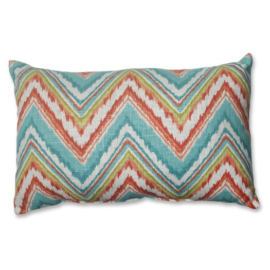 Pillow Perfect Chevron Cherade Polyester Lumbar Throw Pillow