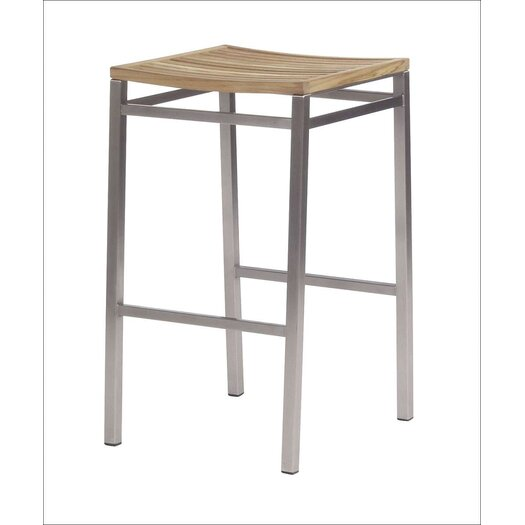 "Barlow Tyrie Teak Equinox 28.5"" Barstool with Backless"