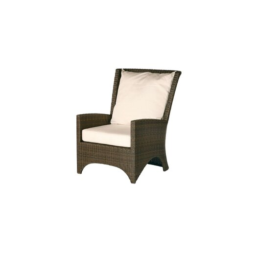 Barlow Tyrie Teak Savannah Woven Deep Seating Arm Chair with Cushion