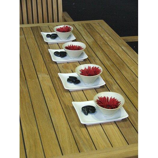 Barlow Tyrie Teak Linear Rectangular Teak Dining Table