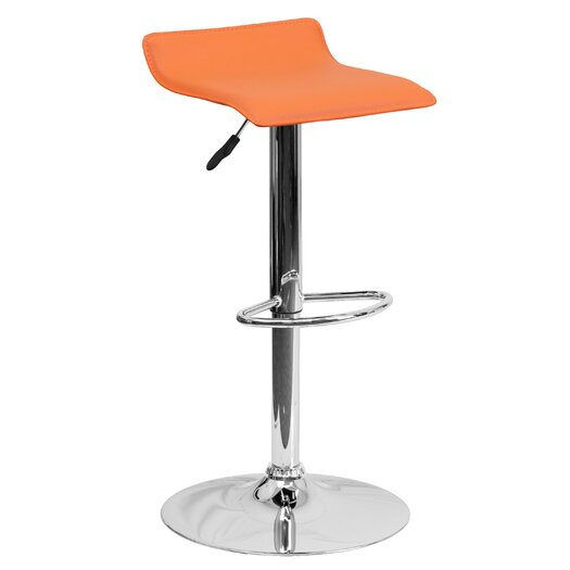 Flash Furniture Contemporary Vinyl Adjustable Height Bar Stool