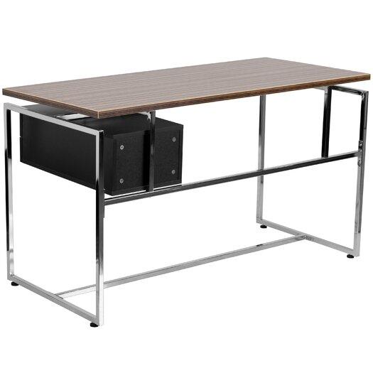 Flash Furniture Writing Desk with 2 Drawer Pedestal