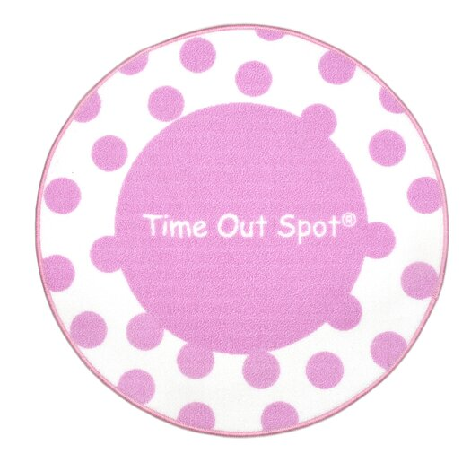 Child to Cherish Time Out Spot Polka Dot Area Rug