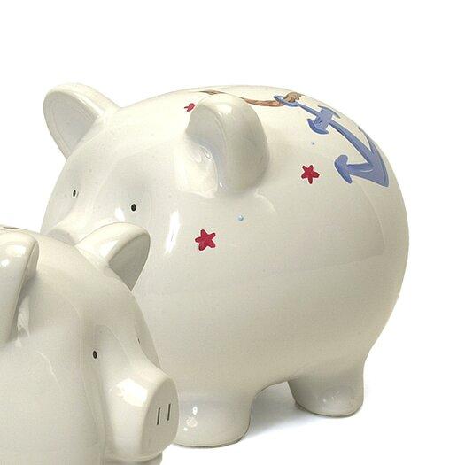 Child to Cherish Nautical Large Piggy Bank