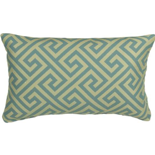 Mastercraft Fabrics Outdoor Key Prussian Lumbar Pillow