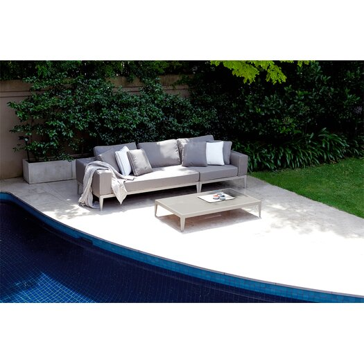 Harbour Outdoor Balmoral Seat Left/Right Arm Deep Seating Sofa with Cushions