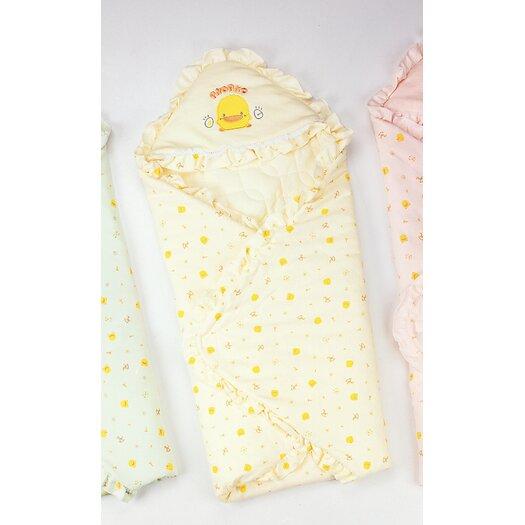 Piyo Piyo Anti Dust Mite Winter Receiving Blanket in Yellow
