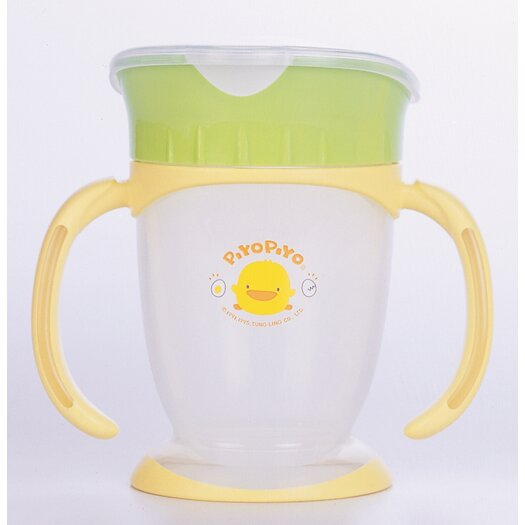 Piyo Piyo Four Step Training Cup Lid Broad Opening Style