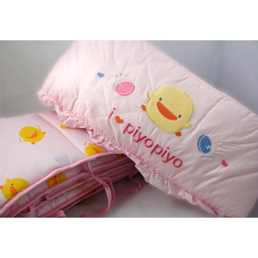 Piyo Piyo Four Piece Cradle Bedding Set in Pink