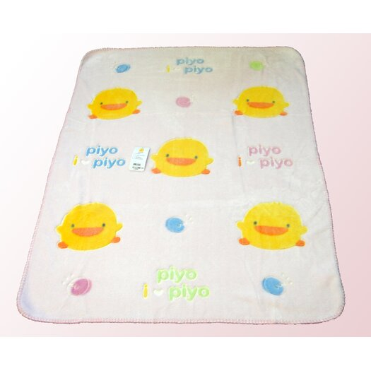 Piyo Piyo Children's Chenille Blanket in Pink