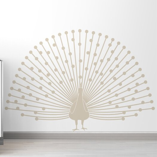 LittleLion Studio Black Label Peacock Wall Decal