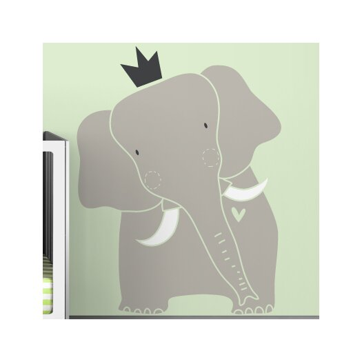 LittleLion Studio Baby Zoo King Elephant Wall Decal